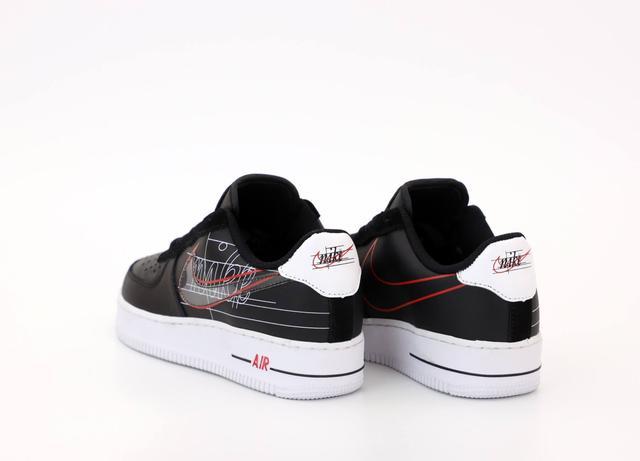Nike Air Force 1 Low Black Whiteфото