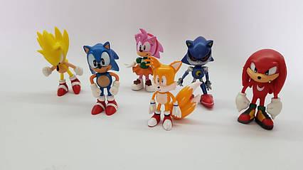 Набор  пластиковых фигурок Соники  Sonik 6 шт.