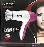 Професійний, компактний фен для сушіння волосся Gemei GM 1711, фото 2