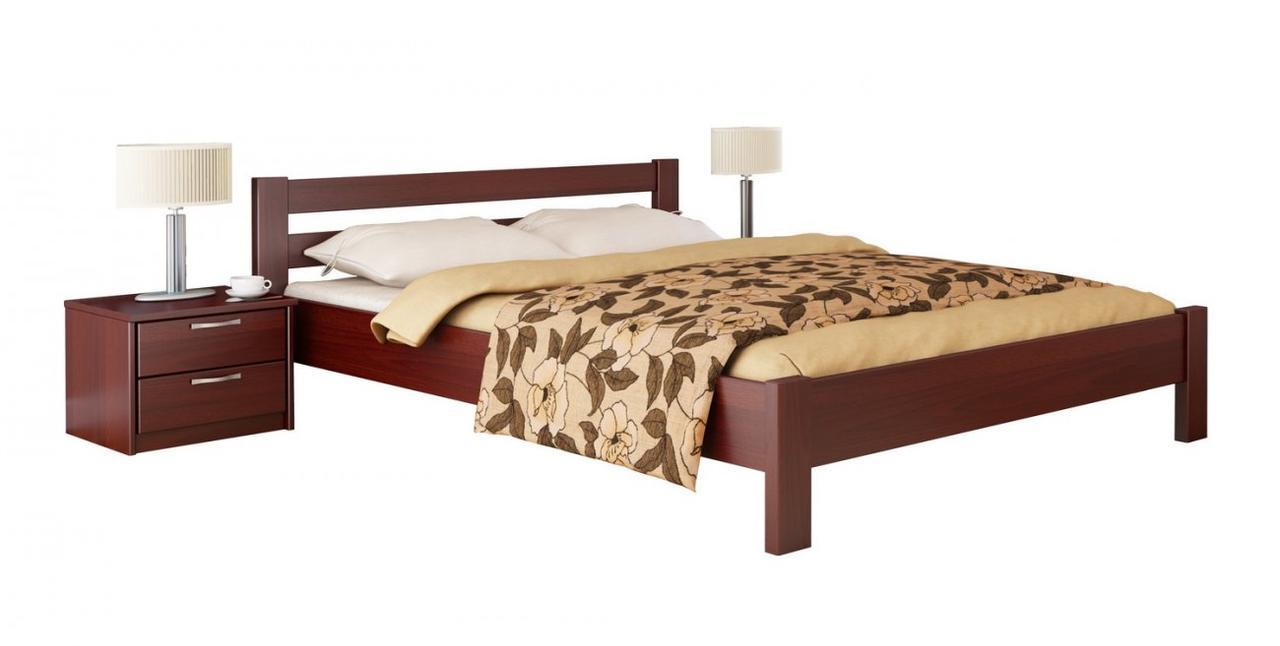 """Двуспальная кровать """"Рената"""" из бука (щит, массив)"""