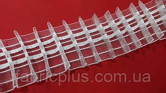 Тесьма шторная прозрачная 6 см ровная складка на 4 нити