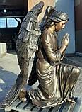 Мемориальные скульптуры ангелов на могиле. Скульптура ангела на могилу из полимера 130 см, фото 7