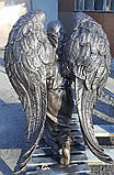 Мемориальные скульптуры ангелов на могиле. Скульптура ангела на могилу из полимера 130 см, фото 8