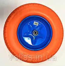 Колесо на тачку безкамерного поліуретанове (пінорезина) 4.80/4.00-8