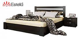 """Двоспальне ліжко """"Селена"""" з бука (щит, масив) з підйомним механізмом"""
