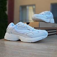 Женские кроссовки в стиле Adidas  Falcon белые, фото 1