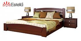 """Двоспальне ліжко """"Селена Аури"""" з бука (щит, масив) з підйомним механізмом"""
