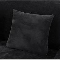 Наволочка декоративная HomyTex микрофибра  Черная