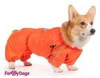 """Дождевик для собак For My Dogs """"Пожарник"""" оранжевый"""