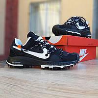 Женские кроссовки в стиле  Nike Zoom Trial чёрные, фото 1