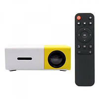 Портативный мини проектор LED Projector YG-300 White/Yellow