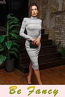 Стильное трикотажное платье платье