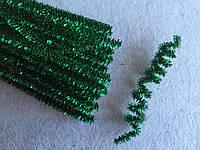 Синельная проволка 0.5см зеленый голограмма