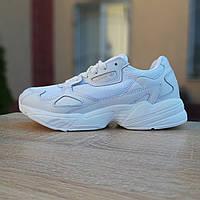 Кроссовки женские Adidas Falcon белые, фото 1