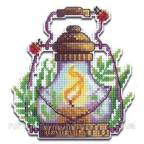 Набор для вышивки крестом на пластиковой основе Сделай Своими Руками Огоньки. Травы О-22