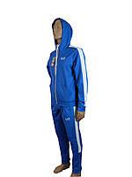 Спортивный костюм подростковый.Детский спортивный костюм.Реплика EA синий.146-164.Костюм для подростка