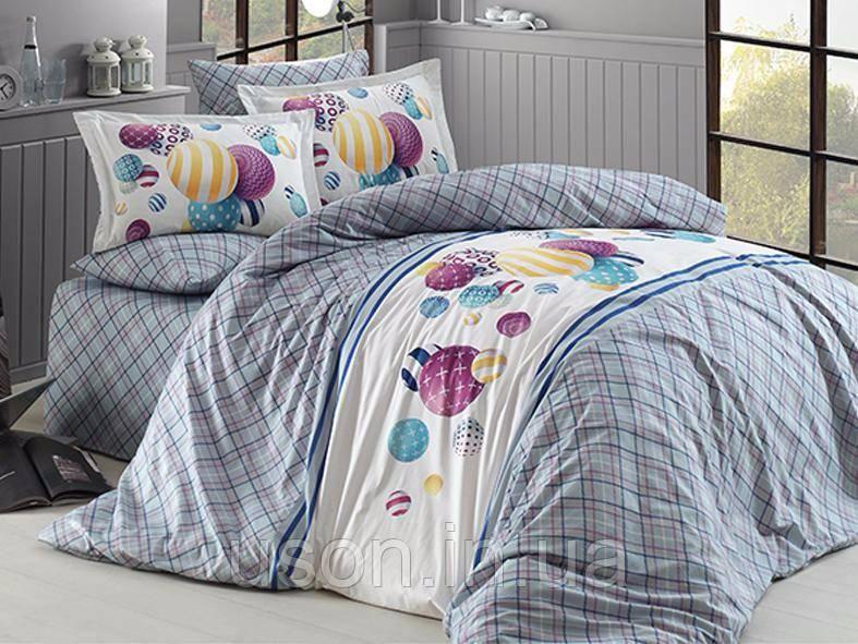 Комплект постельного белья ранфорс de lux First Choice евро размер Halley