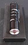 Фонарик металлический на батарейке маленький в подарочной упаковке, фото 2