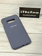 Чехол Silicone case для Samsung Galaxy S10e Lavander Gray