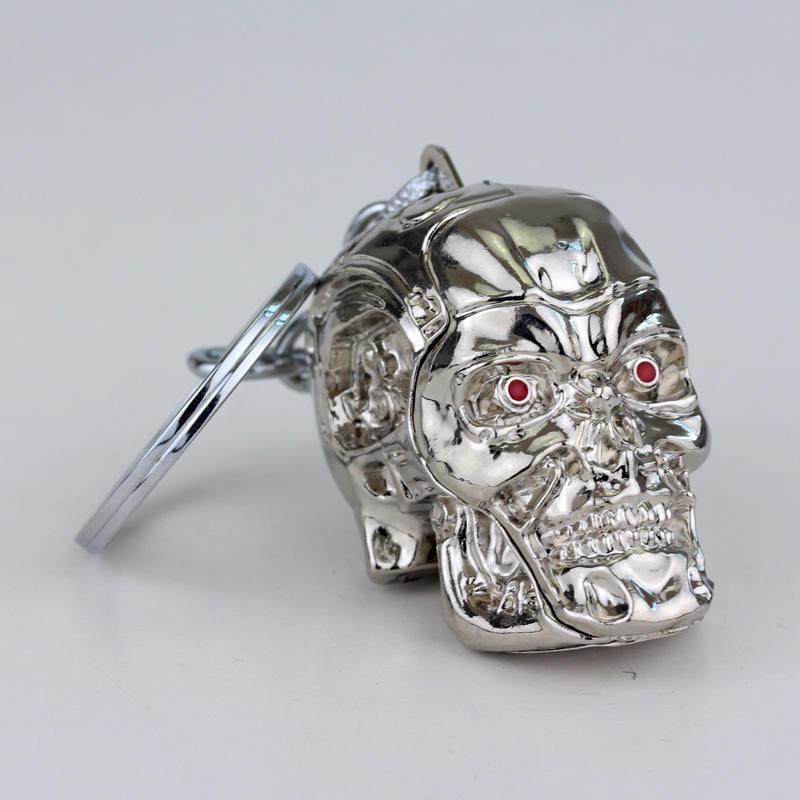 """Брелок """"Термінатор"""", срібний, металевий, супергерої, Брелок """"Терминатор"""""""