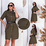 Модное женское платье,льняная ткань,размеры:50,52,54,56., фото 2