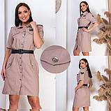 Модное женское платье,льняная ткань,размеры:50,52,54,56., фото 3