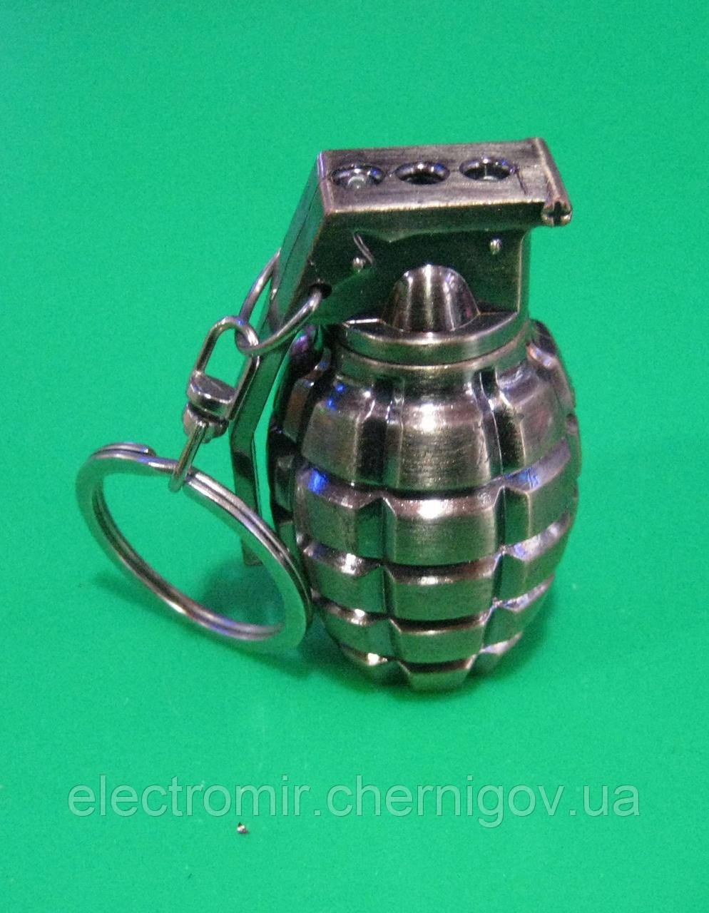 Фонарик-лазер-брелок 3в1 810 (в виде гранаты)