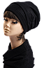 Комплект берет и шарф-хомут (трикотаж+кружево) чёрный