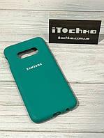 Чехол Silicone case для Samsung Galaxy S10e Spearmint