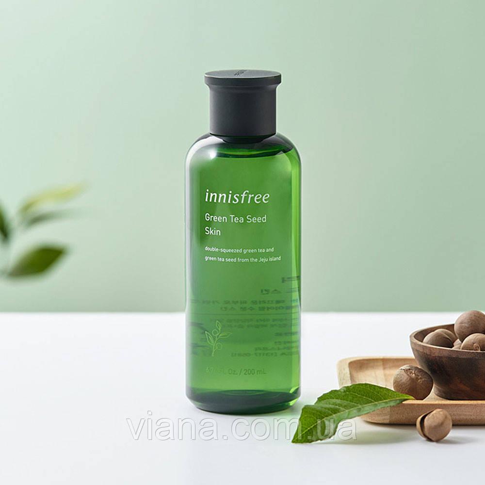 Тонер для лица с маслом семян зеленого чая Innisfree Green Tea Seed Skin 200 мл