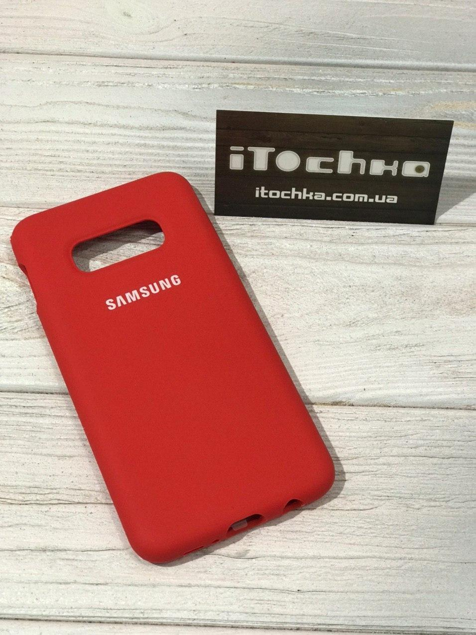 Чехол Silicone case для Samsung Galaxy S10e Red