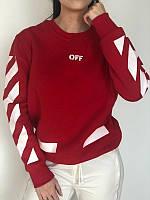 Красный свитшот Off-White