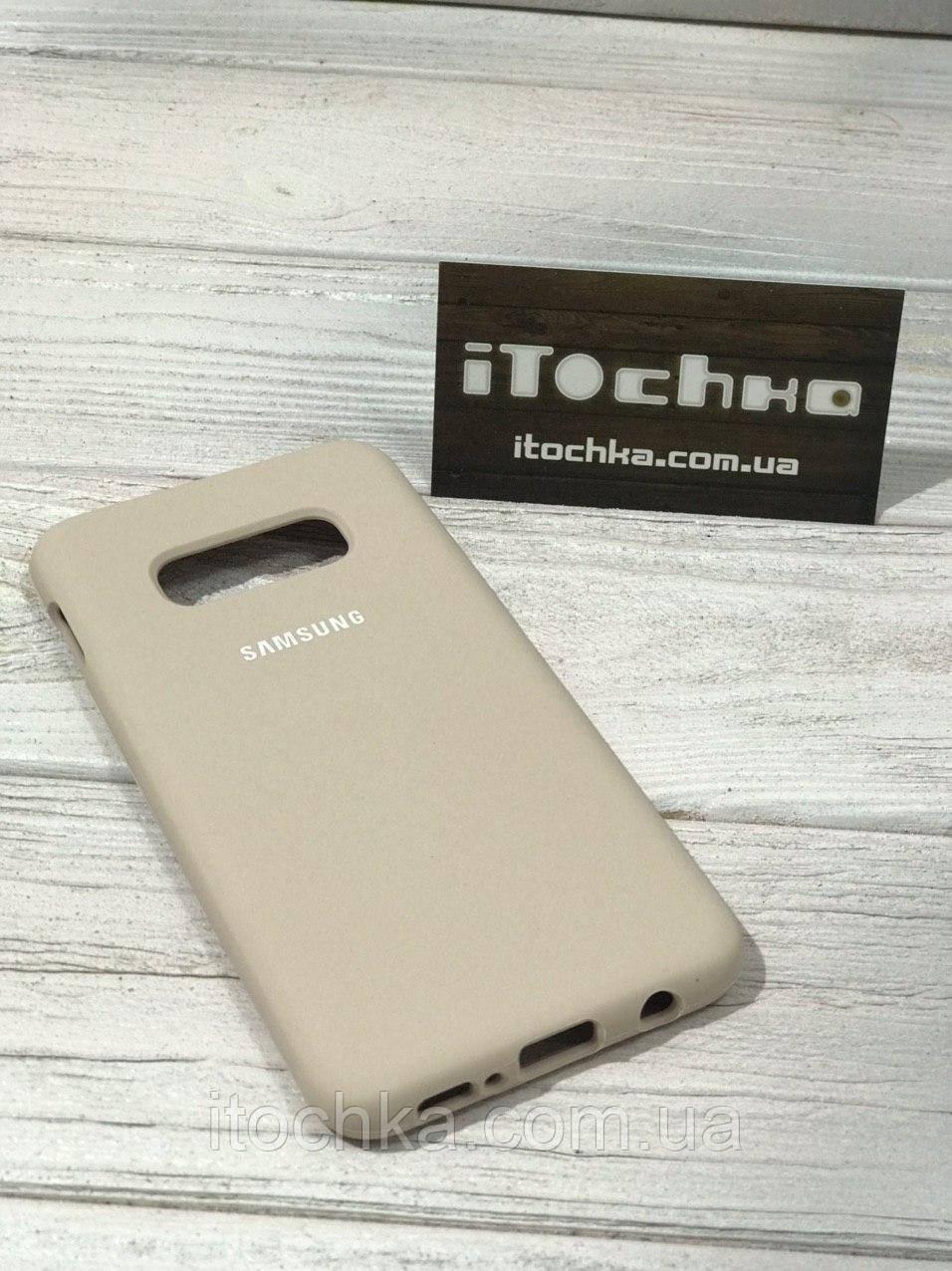 Чохол Silicone case для Samsung Galaxy S10e Pink Sand
