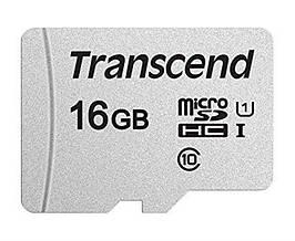 Карта памяти MicroSDHC 16GB UHS-I Class 10 Transcend 300S (TS16GUSD300S)