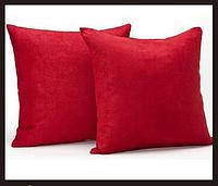 Наволочка декоративная HomyTex микрофибра Красная