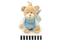 Мишка - ангелок муз. в кофте 19 см. 2цв. /144/