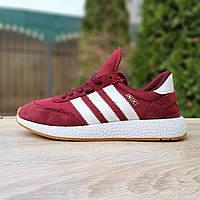 Кроссовки женские Adidas INIKI бордовые, фото 1