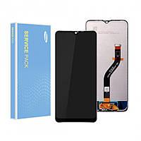 Дисплей (LCD) Samsung GH81-17774A A207 Galaxy A20s (2019) PLS с тачсрином, черный (сервисный оригинал)