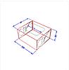 """Картонная коробка для суши """"Мини"""" крафт, фото 2"""