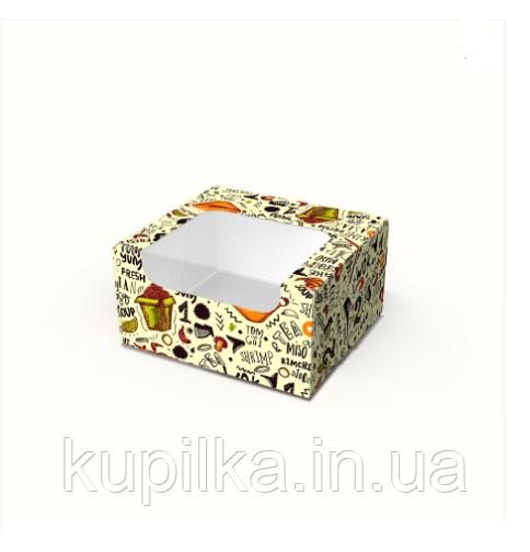 """Картонная коробка для суши """"Мини"""" светлая"""