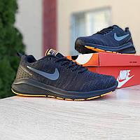 Мужские кроссовки в стиле NIKE Racer Zoom Vomero чёрные с оранжевым, фото 1