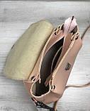 Молодежная сумка Софи пудрового цвета, фото 3
