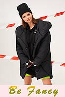 Утепленная черная куртка