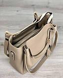 Молодежная сумка Рамона бежевого цвета, фото 4