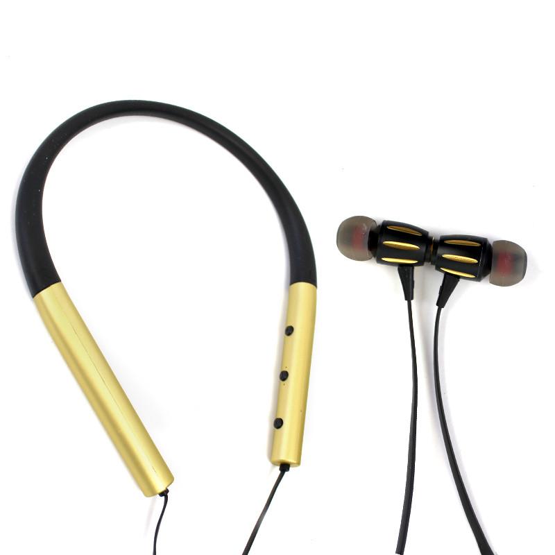 Наушники вакуумные Bluetooth Sgs Sport Золотые 151089