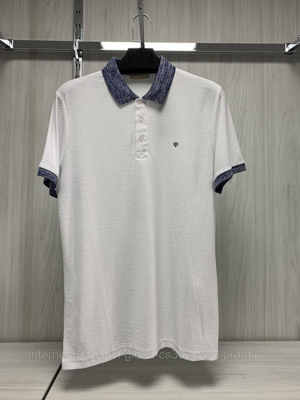Мужская футболка поло Tony Montana. 5011(beyaz). Размеры: M,L,XL,XXL.