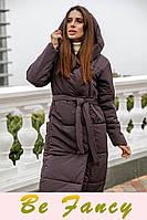 Удлиненная теплая куртка