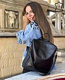 Кожаная  сумка рюкзак Taus черного цвета, фото 3