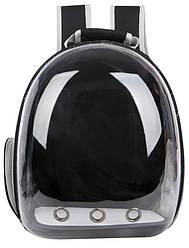 Прозорий рюкзак для перенесення тварин Pet Cat для кішок і собак Чорний