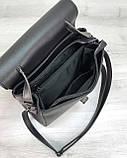 Женская сумка Бетти черная с серебром, фото 5
